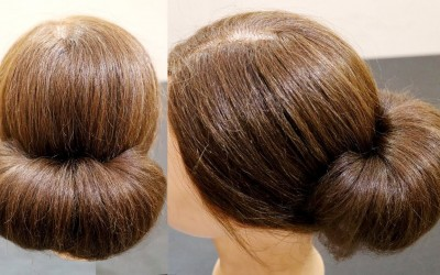 2-Minute-Bubble-Bun-Hairstyle-Easy-Hairstyles-for-Women-Low-Bubble-Bun-Integrators
