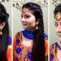 3-EASY-MAANG-TIKKA-HAIRSTYLES-FOR-LONG-HAIRHEATLESS-HAIRSTYLES