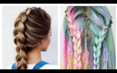 Beautiful-hairstyle-braid-for-cut-girl-easy-steps-tutorial-2017-The-best-hair-colour-transformation