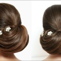 Bridal-Hairstyle-For-Long-Hair-Tutorial.-Wedding-Prom-Bun-Updo