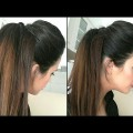 Easy-Prom-Ponytail-Hairstyle-for-BrideHalf-Up-Down-hairstyle-for-long-medium-hair-tutorial