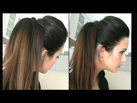 Easy Prom Ponytail Hairstyle For Bridehalf Up Down Hairstyle For
