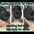 Festive-hairstyles-for-medium-to-long-hair-hairstyle-for-wedding-sareeAnarkalitraditional-wear