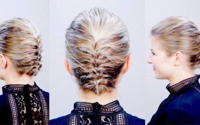 HAIRSTYLE-OF-THE-DAY-Easy-Elegant-Textured-Updo-for-Short-Hair-Milabu
