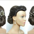 Hairstyle-For-Long-Hair-With-Puff.-Easy-Wedding-Hairstyles.-Tutorial