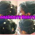 KarwaChauth-2017-Special-Hairstyle-ll-Indian-Bridal-Updo-ll-Medium-to-long-hair-ll-StylingMania