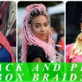 Pink-and-black-box-braids-hairstyles-for-black-women