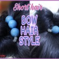 Quick-Bow-Hairstyle-For-ShortMedium-Hair-How-To-Style-Hair-In-Hindi-How-to-style-kids-hair