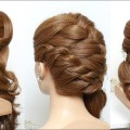 Romantic-Bridal-Hairstyle-For-Long-Hair-Tutorial-With-Curls