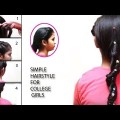 Simple-Hairstyle-for-College-Girls-For-Long-Hair-Ladies-Hairstyle-Videos-2017-YouTube.