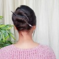 1-Min-Bun-for-long-hair-Everyday-easy-hairstyles-for-collegework