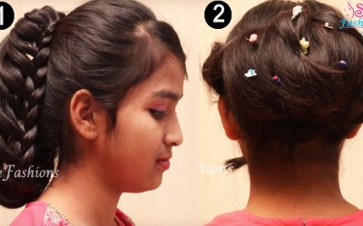 2-Different-Braided-Updo-Hair-style-for-Long-Hair-Tutorial-Hair-style-Tutorials