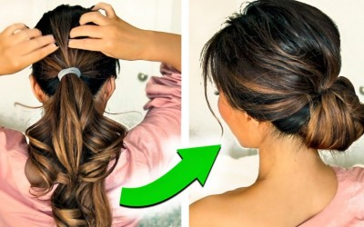 3-2-MINUTE-HOLIDAY-UPDO-HAIRSTYLES-2017-with-PUFF-EASY-EVERYDAY-BUN-FOR-LONG-MEDIUM-HAIR