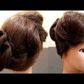 Folded-Curved-Bun-Wedding-Hairstyles-New-Hairstyle-Bridal-Hairstyles