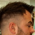 Great-Haircut-for-High-Hairline-with-Short-Beard-Trim