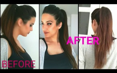 Ponytail-Trick-LONG-ponytail-hairstyle-Without-Extension-Puff-hairstyle