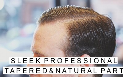 Professional-Hairstyles-for-Men-Tapered-w-Natural-Part-GQ-Inspired-Sleek