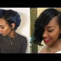 Short-Pixie-Asymmetrical-Hair-Ideas-For-Black-Women-in-2018