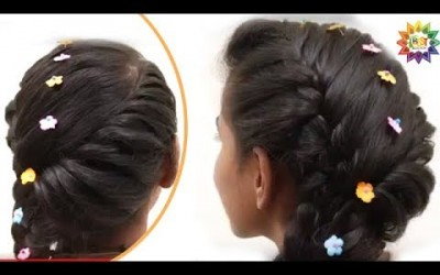 Twisted-Side-French-Braid-Hair-styles-for-Parties-Ladies-Hair-style-videos-2017-YouTube-.