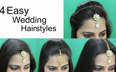 4-Easy-Hairstyles-for-Wedding-Hairstyle-with-Maang-Tikka-for-Medium-or-Long-Hair