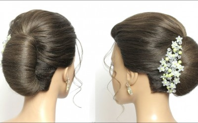 Bridal-Updo-With-French-Roll.-Hairstyle-For-Long-Hair-Tutorial
