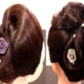 Bun-With-Curved-Waving-Ends-Wedding-Hairstyles-New-HAirstyle-Short-Hairstyles