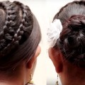 Easy-Bridal-Bun-Hair-style-for-Long-Hair-Ladies-Hair-Style-Videos-2017