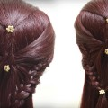Easy-Quick-Hairstyle-for-medium-hair-Simple-Braidal-Hairstyle-Tutorials-Hairstyle-for-Girls