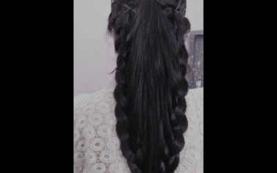 Simple-2-Side-French-Braid-Hair-Style-Beautiful-Long-Hair-Hairstyle-for-Party-Hairstyle