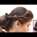 Simple-Easy-Bun-with-Hair-Bow-Hairstyle-for-Long-Hair-Hairstyle-videos-2017-you-tube.