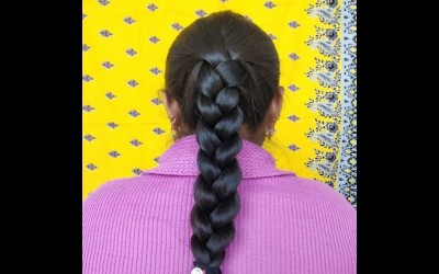 Simple-hair-style-in-a-minute-for-new-year-at-home.