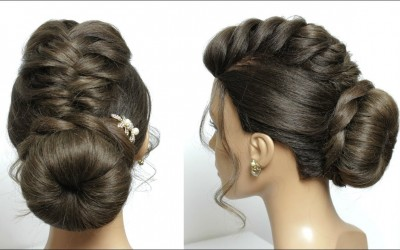 Updo-Hairstyle-For-Long-Hair-Tutorial.-Bun-With-Braid-And-Twist