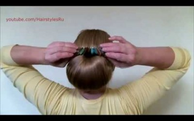 Updo-Hairstyles-Bun-with-Hair-Bow-for-Long-Hair-Hairstyle-Babette-Tutorial