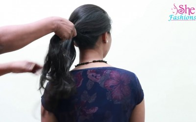 1-Minute-Elegant-SIDE-BUN-Hairstyle-EASY-Summer-Updo-HAIRSTYLES