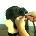 Easy-Hairstyle-ponytail-With-Waterfall-Braid-HomeTown