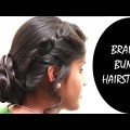 Easy-Quick-Braid-BUN-Hairstyle-With-in-5-Minutes-EASY-Hairstyle-step-by-step-Tutorials-2018