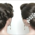 Elegant-Bun-Hairstyle.-Easy-Updo-For-Long-Hair-Tutorial