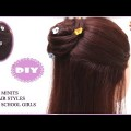Everyday-Hair-style-for-school-girls-With-In-Two-Minits-Quick-Hair-style-tutorial-videos