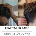 HAIRCUT-TUTORIAL-LOW-FADE-WITH-LONG-HAIR-BLOW-DRIED-BACK