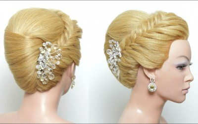 Hairstyle-French-Roll.-Updo-For-Long-Medium-Hair-Tutorial