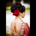 Indian-wedding-Beautiful-Hairstyles-For-Engagement-HomeTown