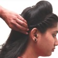 Side-Bridal-Hair-style-for-medium-hair-tutorials-2018-New-Puff-Hair-style-videos-2018