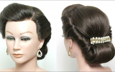 Twist-And-Pin-Updo.-Rolled-Hairstyle-For-Long-Medium-Hair-Tutorial
