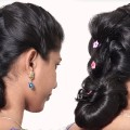 2-Easy-Beautiful-Medium-Hair-Hairstyles-for-FunctionOccasions-Hair-styles-Tutorial-videos