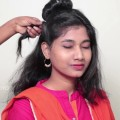 2-Minute-ROMANTIC-Bun-Hairstyle-EASY-Updo-Hairstyles-Indian-Hairstyles-YouTube