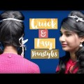 30-Sec-Cute-Hairstyles-for-Short-Medium-Hair-Tutorial-For-School-Girls-simple-hairstyle-videos