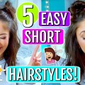5-EASY-Hairstyles-for-SHORT-Hair-2018-Trending-With-Tori