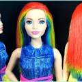 Barbie-Hair-Barbie-hairstyles-tutorial-compilation-Barbie-hair-color-transformation-5