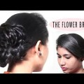 Best-Flower-Braid-bun-Hairstyle-step-by-step-Tutorials-YouTube-New-Hairstyles-videos-2018