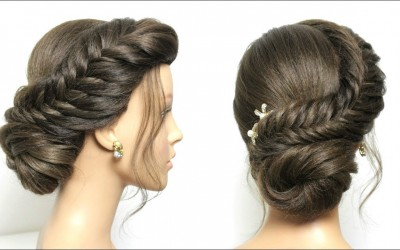 Braided-Bun-Hairstyle.-Easy-Updo-Tutorial-For-Medium-Long-Hair